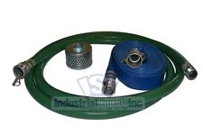 """1-1/2"""" Trash Pump Hose 50' Water Suction Discharge Camlock"""