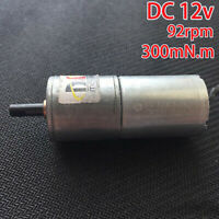 Mabuchi Gear motor DC12V 92RPM Large Torque full Metal Reduction DC Motor