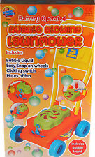 Toddlers Battery Operated Bubble Blowing Lawn Mower Garden Toy