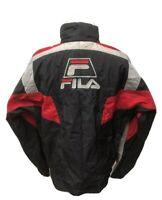 Vintage FILA Full Zip Big Logo Windbreaker Jacket Size XL Black Colorblock