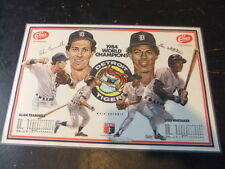 1984 Detroit Tigers placemat Allan Trammell & Lou Whitaker Elias Brothers