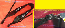 "NEOPRENE NECK STRAP ""FOR SONY "" ALPHA CAMERA NEX-6 NEX-5T NEX-3N +2 RINGS"