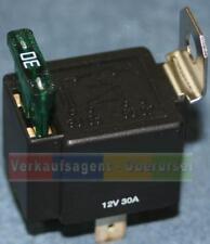 Relais mit Sicherung,  12 Volt, 30 Ampere  (Schließer) für KFZ / Boot / Oldtimer