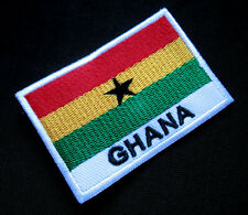 GHANA FREEDOM AND JUSTICE NATIONAL FLAG Sew on Patch Free Postage
