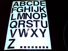 1 off Set LETTERS Full Alphabet  Car Van Motorcycle Stickers Decals 30mm