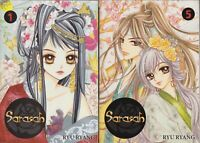 Sarasah 1, 5 Lot of 2 Shojo Manga, English, 13+, Ryu Ryang