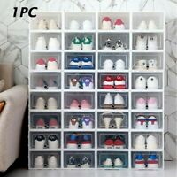 Storage Clear Drawer Shoe Box Organiser Stackable Foldable Home Wardrobe