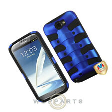 Samsung N7100 Galaxy Note 2 Shield Fishbone Blue/Black Case Cover Shell Guard