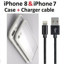 White Case Cover iPhone 8 iPhone 7 Bumper+ Charger Charging Cord Cable