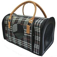 Radiant Pet Supplies Portable Travel Carrier Hand Bag for Small Dog or Cat Plaid