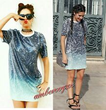 ZARA NEW SEQUIN SHIRT DRESS SIZE M UK 10