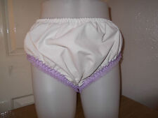 ADULT BABY~SISSY~MAIDS~POLY COTTON & LACE PANTS~NAPPY~DIAPER COVER