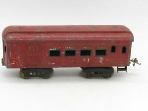 Ives Standard Gauge Lighted 184 Red Combine Coach Needs a Coupler
