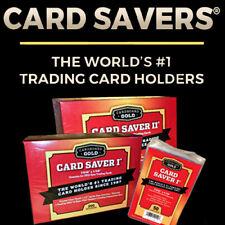 100 pc Card Saver I 1 PSA BGS Submission Card Holder Semi Rigid Plastic Savers
