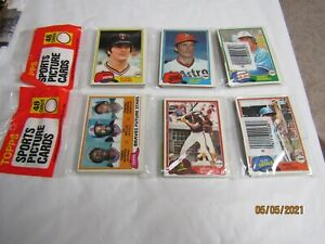 1981 TOPPS MLB BASEBALL CARDS, RACK PACK  48 CARDS EACH , 2 RACK PACKS