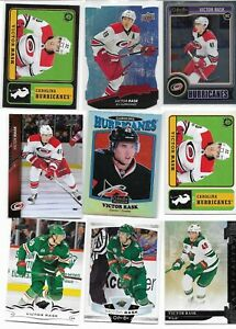 Victor Rask, 13 Different Card Lot  /  RC + Parallels