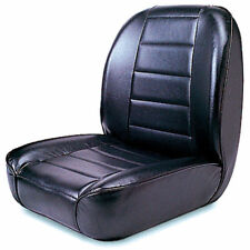 For Jeep Cj 55-86 New Low Back Front Bucket Seat Black  X 13400.01