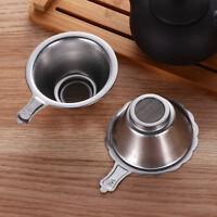 Reusable Stainless Steel Double-layer Tea Strainer Filter Fine Mesh Tea Kitchen