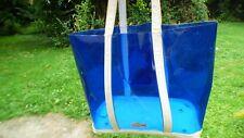 Lacoste sac cabas PVC transparent bleu