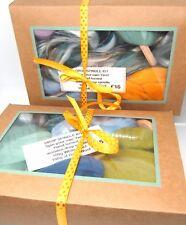 Drop Spindle Kit Apprendre à tourner votre propre fils Ensemble Cadeau 200 g Laine peignée Femme