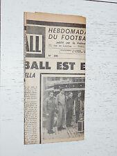 FRANCE FOOTBALL OFFICIEL HEBDOMADAIRE FFF N°390 08/09 1953 MORT E. GAMBARDELLA