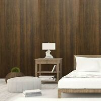 Self Adhesive Brown Wood Contact Paper Wallpaper Roll Wall Sticker Decor Home