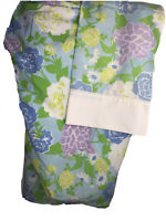 Vtg Fashion Manor Mod Floral Twin Fitted Sheet & Pillowcase Percale Flower Power