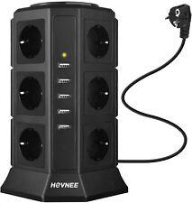 TORRE REGLETA VERTICAL - HOVNEE - BASE MULTIPLE 12 ENCHUFES + 5 USB -  NUEVO