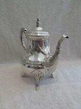 Gorgeous early 20th c French sterling silver tea pot Louis XVI st E Puiforcat