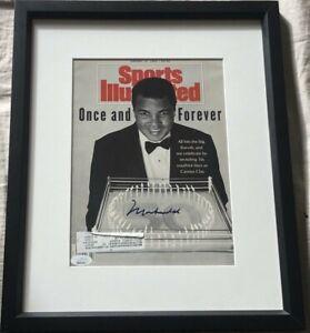 Muhammad Ali autograph autographed signed 1992 Sports Illustrated SI framed JSA