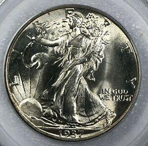 1937 PCGS MS64 Silver Walking Liberty Half Dollar 50c ~ Obscene Luster ~ WOW!