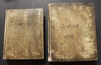 Manuscript Account Books of the Lound Estate, Nottinghamshire 1813-1824. 2 vols.