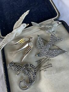 Collection Job Lot of Vintage 1950s BIRD Brooches