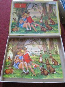 Vintage Wooden Children's High Spot Jigsaw 'under the tree' - complete