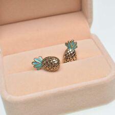 Golden Jewelry Fruit Retro Stud Earrings Pineapple Alloy