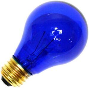 Sylvania 11710 - 25A19/TB/RP 125V Standard Transparent Colored Light Bulb, Blue