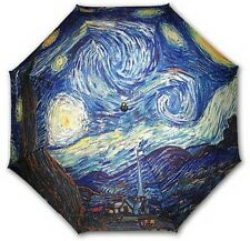 """Starry night"" famous painting long size auto umbrella"