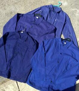 CHORE French Herringbone Cotton Twill Worker Work Jacket - Blue XS S M L XL