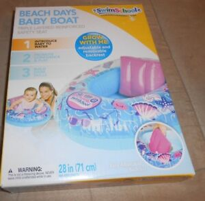 SwimSchool Beach Days Baby Boat  28 inch Inflated Length