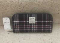 BNWT Jack Wills 'Alchester ' Classic Purse Wallet Pink / Navy Check