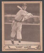 1940 Play Ball high #206 Chet Laabs Browns Ex-Mt!