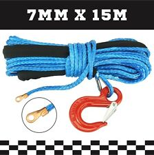 7MM X 14M Dyneema Hand Winch Rope SK75 Marine Boat Car Tow Recovery Blue