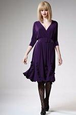 Leona Edmiston Knee Length Solid Dresses for Women