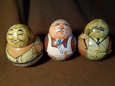 3 BRISTOL WARE Roly Poly LITHOGRAPHED TIN CANS Mayos Cut Plug 1979 1980 BUTCHER