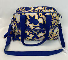 Kilping yellow and blue large shoulder bag BNWT Funky Flow Ink purity + monkey