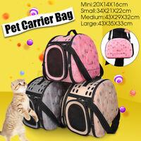 Portable Dog Cat Puppy Foldable Pet Pink Carrier Portable Travel Bag Houlder