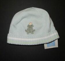 NWT Janie & Jack baby boy layette Spring frog prince sweater knit hat cap beanie
