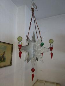 Lichterspinne Leuchterspinne Erzgebirg Deckenleuchter Art Deco Adventskranz DRGM