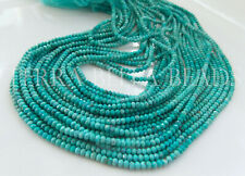 """13"""" natural ARIZONA TURQUOISE faceted gem stone rondelle beads 2mm blue green"""