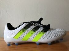 NEW Adidas Ace 16.1 FG Cleats Size 12.5 White Lime Green Volt Soccer Shoe AF5084